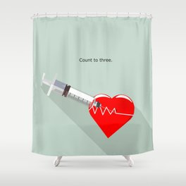 Shot to the heart - Pulp fiction Overdose Needle Scene needle for injection  Shower Curtain