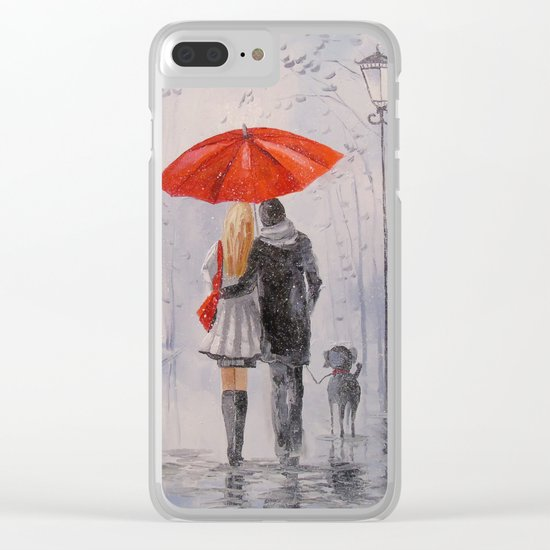 After the rain in the Park Clear iPhone Case