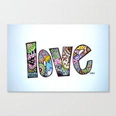 love is all you need. (color) Canvas Print