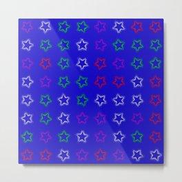Spray Stars Pattern E Metal Print