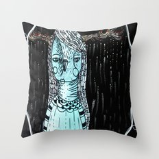 Raining Branches Throw Pillow