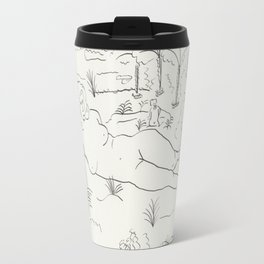 Naked in the Woods Travel Mug