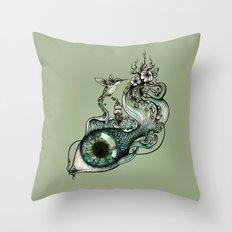 Flowing Creativity Throw Pillow