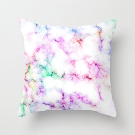 Saltwater Taffy Colored Marble Pattern Throw Pillow