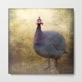 I love Guinea Fowl! Metal Print