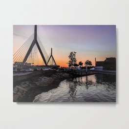 Boston Harbor Sunsets Metal Print