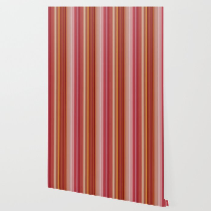 Pretty Summer Vertical Stripes In Shades Of Soft Pink Orange Yellow Pastel Colors Wallpaper