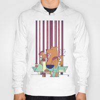 50s Hoodies featuring Barbecue by Ale Giorgini