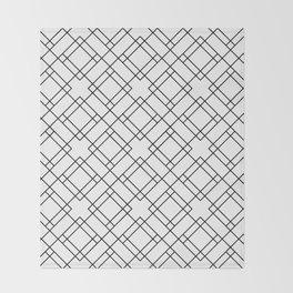 Simply Mod Diamond Black and White Throw Blanket