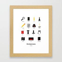 Film Genre Icons Framed Art Print