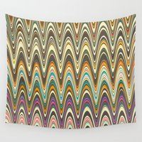 swag Wall Tapestries featuring Swag stripe by Shelly Bremmer