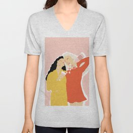 Best Friends and Wine Unisex V-Neck