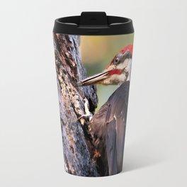Pileated Woodpecker at Work Travel Mug