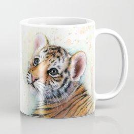 Tiger Cub Watercolor Coffee Mug