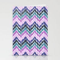 ikat Stationery Cards featuring Ikat Chevron by Noonday Design