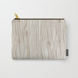 Wood Grain - Brown Carry-All Pouch