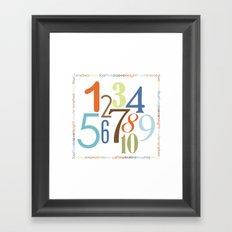 Numbers Square - Safari colorway Framed Art Print