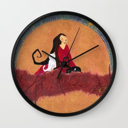 Rising Wall Clock