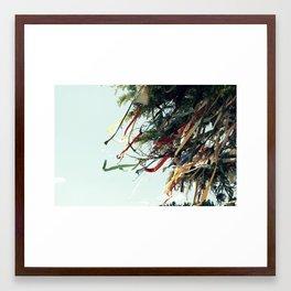 Ribbon Wishes Framed Art Print