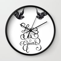 larry stylinson Wall Clocks featuring Larry Stylinson - Love is Equal by Aki-anyway