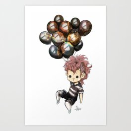 Space Balloons- Flying Art Print