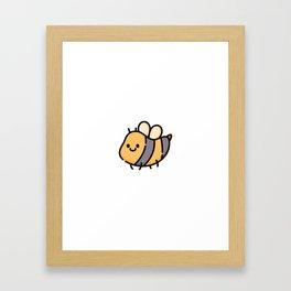 Just a Cute Honey Bee Framed Art Print