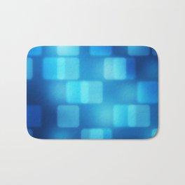 Multi-Blue Tiles Abstract Pattern Bath Mat