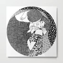 Gustav Klimt - The kiss Metal Print