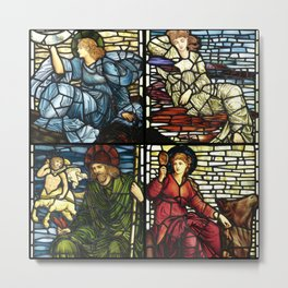 """Edward Burne-Jones """"Stained glass collection"""" Metal Print"""