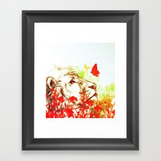 Beast and the Butterflies II Framed Art Print