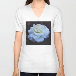 Spaced Out White Rose Unisex V-Neck