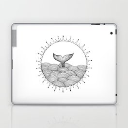 Whale in Waves Laptop & iPad Skin