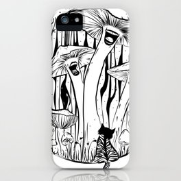 The Singing Mushrooms & The Zebra Cat iPhone Case