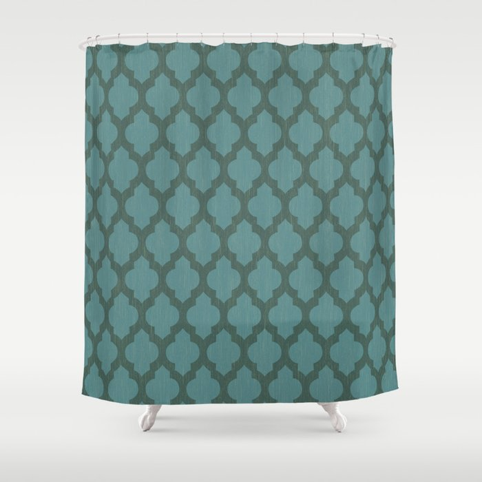 Turquiose Moroccan Shower Curtain by bohemiangypsyjane | Society6