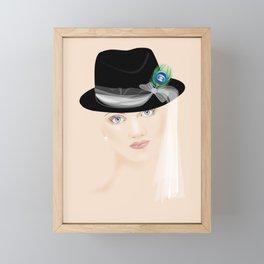 Fascinators: Fedora Framed Mini Art Print