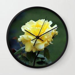 Single Yellow Rose Wall Clock