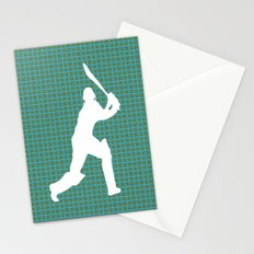 Cricketer Silhouette - Summer game  Stationery Cards