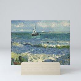 The Sea at Les Saintes-Maries-de-la-Mer by Vincent van Gogh Mini Art Print