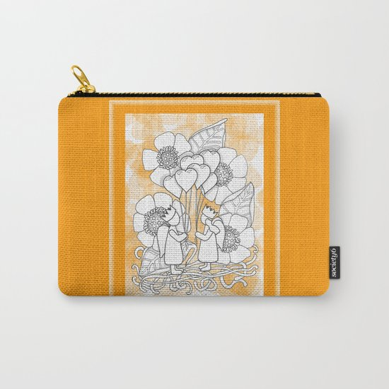 Kids with Hearts of Gold A Zentangle Illustration for Children Carry-All Pouch