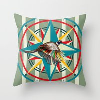 not all who wander are lost Throw Pillows featuring Not all those who wander are lost by milanova
