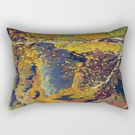 Franklin Carmichael Canadian artist Art Nouveau Post-Impressionism October Gold Rectangular Pillow