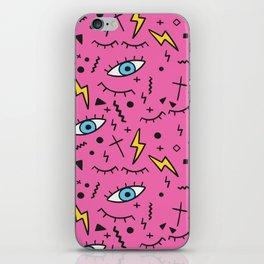Pink retro mess iPhone Skin