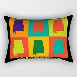 Colorful Alabama State Pop Art Map Rectangular Pillow