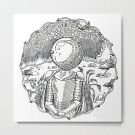 Space Knight Tess Metal Print