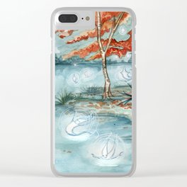 Willow Wisps Clear iPhone Case
