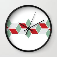 sweater Wall Clocks featuring Winter Sweater by INDUR