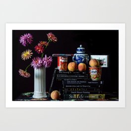 Still Life with Can of Beans and Cup Noodles Art Print