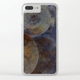 Ammonite Fossils Clear iPhone Case