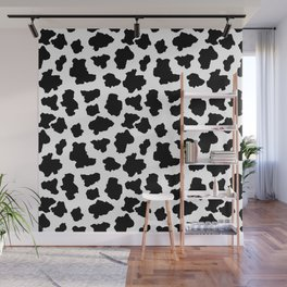 Spotted Moo Cow Dutch Holstein Animal Spots in Black and White Wall Mural