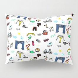 Triathlon Doodles Pillow Sham